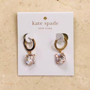 ♠️ Kate Spade ♠️ Cubic Zirconia Hoop Earrings